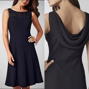 Jones Wear Illusion Cowl Back Fit n Flare Dress 4P
